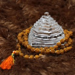 Crystal Shree Yantra with rudraksha