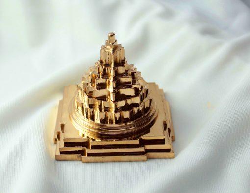 "3"" Panchdhatu Gold Plated Meru Shri Yantra"