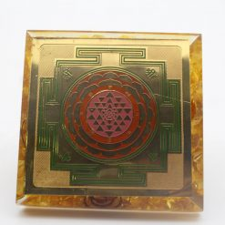 Yellow Orgone with Shree Yantra