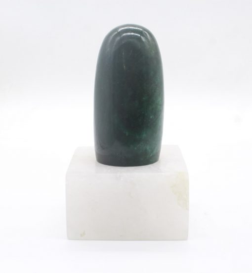 Green zJade Lingam with Quartz Stand